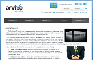 Arvixe Screenshot