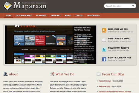 Maparaan WordPress Theme