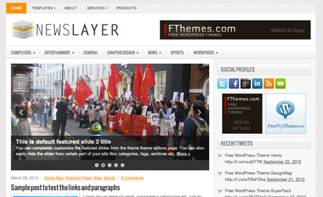 NewsLayer WordPress Themes
