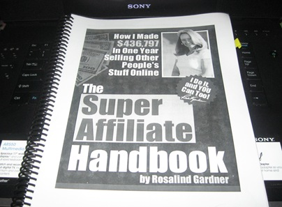 My Copy of the Super Affiliate Handbook