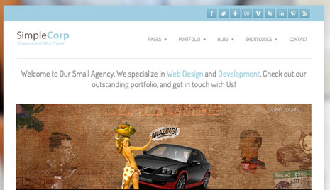SimpleCorp WordPress Theme