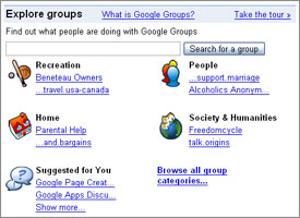 Explore Google Groups