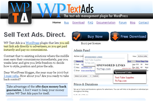 WP Text Ads Website